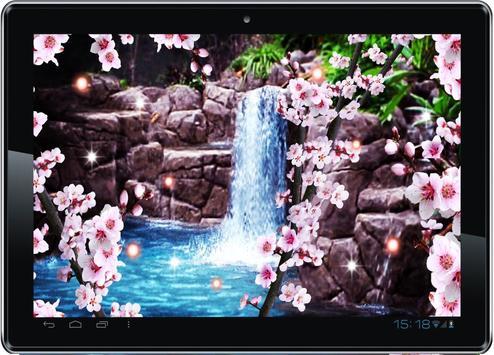 Sakura Waterfall livewallpaper poster