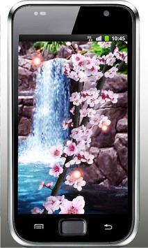 Sakura Waterfall livewallpaper apk screenshot