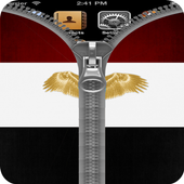 Egypt Flag Zipper Screenlock icon