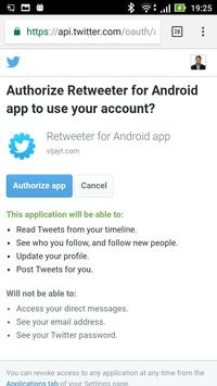 Retweeter apk screenshot