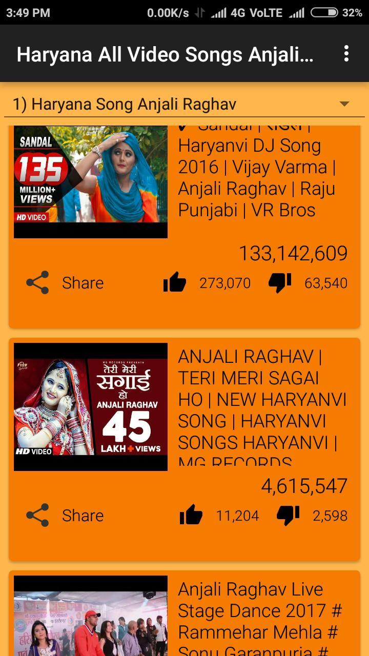 Haryana All Video Songs Anjali Raghav Sapna Dancer for