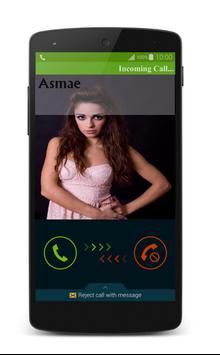الإتصال الوهمي من فتاة جميلة apk screenshot