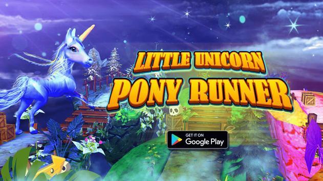 Little Unicorn Pony Runner poster