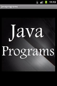 Java Programs for Beginners poster