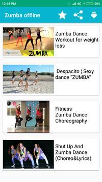 Zumba Dance Exercise Offline-poster