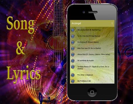 Arcángel canciones y musica letra screenshot 2