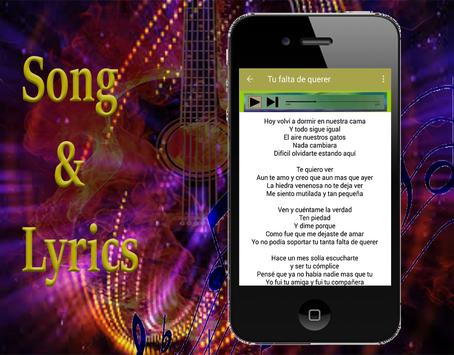 Mon Laferte Amárrame - canciones de musica letra apk screenshot