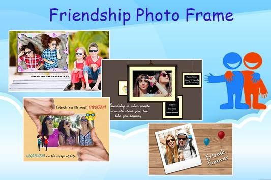 Friendship Photo Editor :  Frame, Sticker, Quotes poster