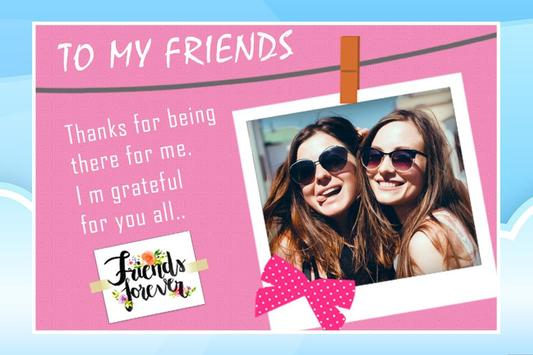 Friendship Photo Editor :  Frame, Sticker, Quotes screenshot 1