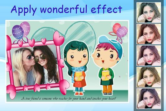Friendship Photo Editor :  Frame, Sticker, Quotes screenshot 2