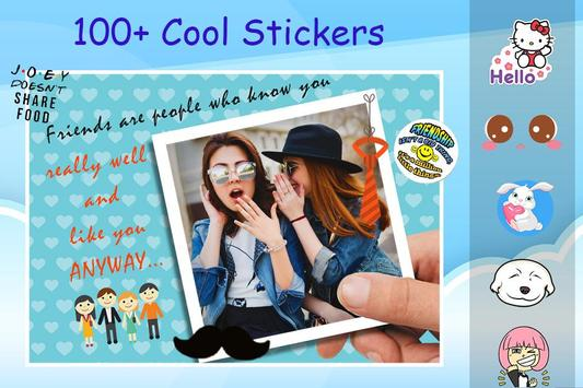 Friendship Photo Editor :  Frame, Sticker, Quotes screenshot 3
