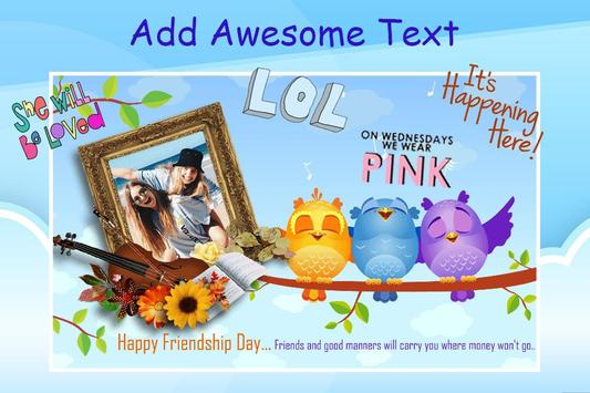 Friendship Photo Editor :  Frame, Sticker, Quotes screenshot 4
