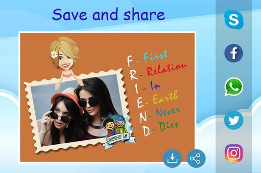Friendship Photo Editor :  Frame, Sticker, Quotes screenshot 5