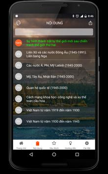Sổ tay Lịch Sử 12 apk screenshot