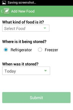 Food Storage apk screenshot
