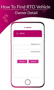 RTO - Get Vehical Owner Detail screenshot 1