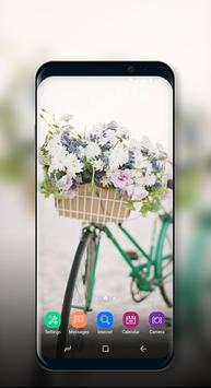 Cute Wallpaper Vintage Floral Bike poster