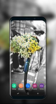 Cute Wallpaper Vintage Floral Bike screenshot 1