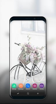 Cute Wallpaper Vintage Floral Bike screenshot 2