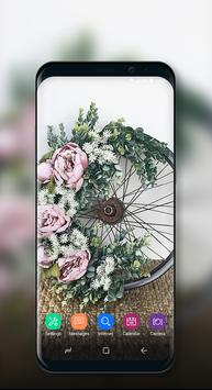 Cute Wallpaper Vintage Floral Bike screenshot 4