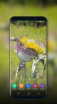 Cute Wallpaper Vintage Floral Bike screenshot 6