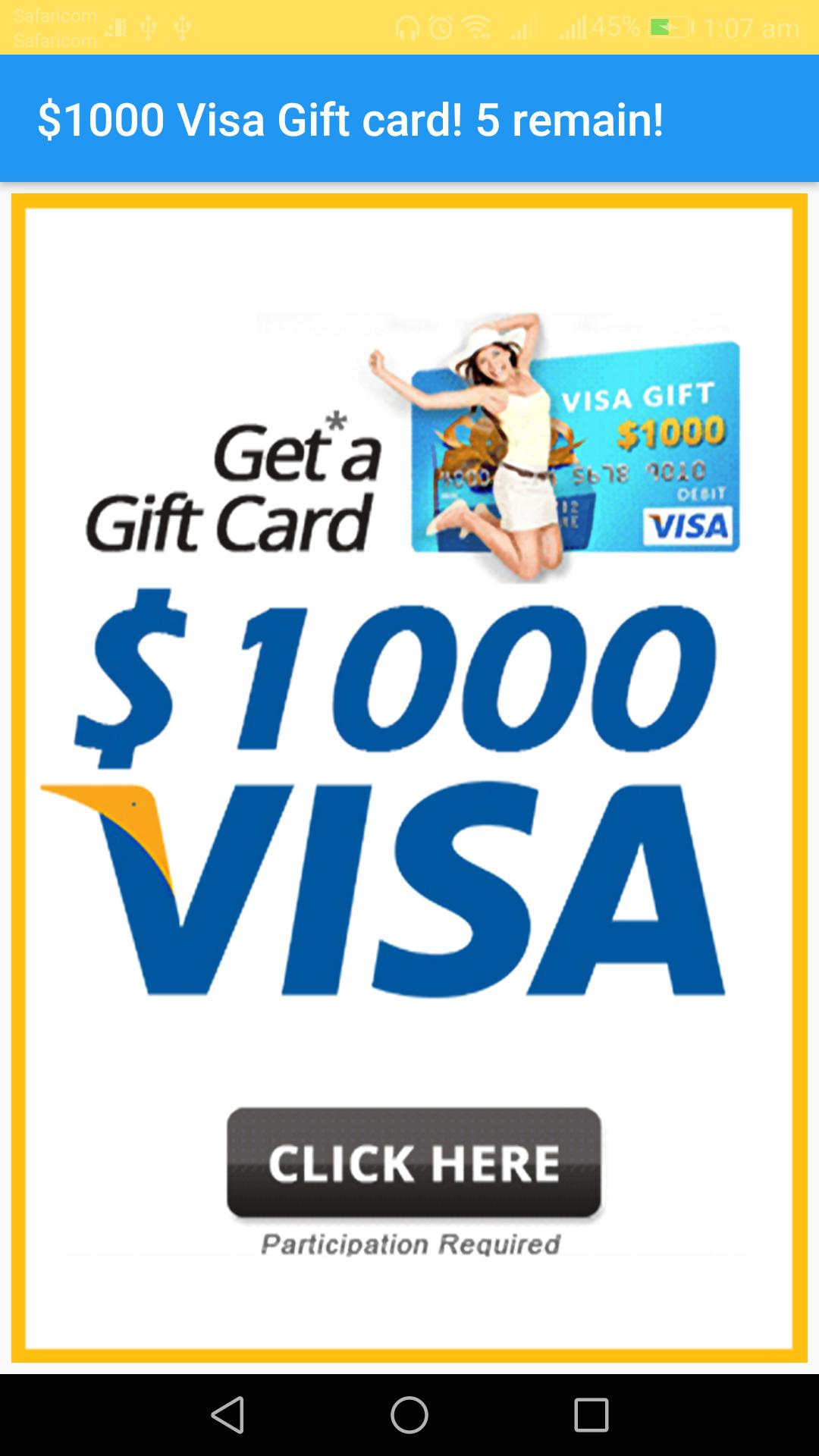 Money maker 2018: $1000 v-sa giftcard registry for Android - APK Download