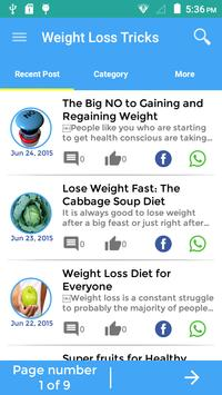 Tricks To Weight Loss poster