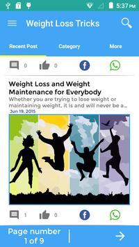 Tricks To Weight Loss screenshot 1