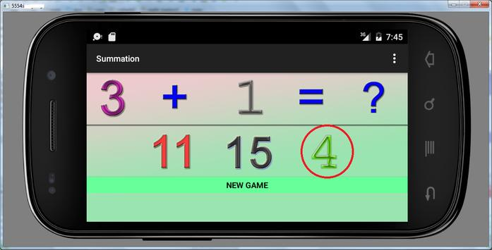 3 years educational games sum screenshot 3