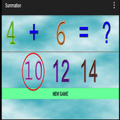 4 years educational games sum icon