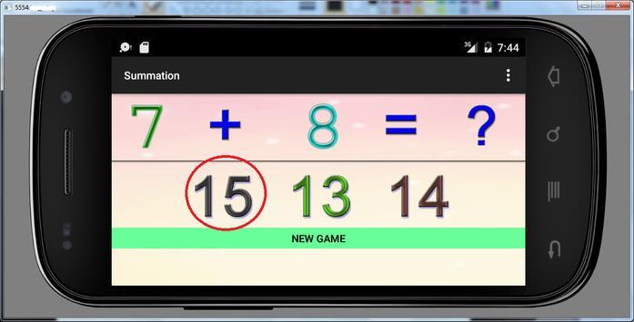 4 years educational games sum screenshot 2