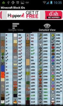 Minecraft Block IDs poster
