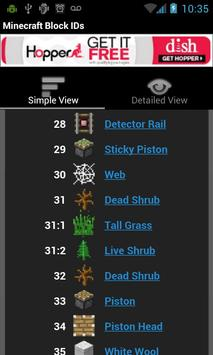 Minecraft Block IDs apk screenshot