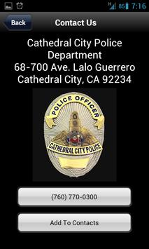 Cathedral City Police screenshot 1