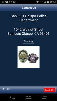 San Luis Obispo Police Dept apk screenshot