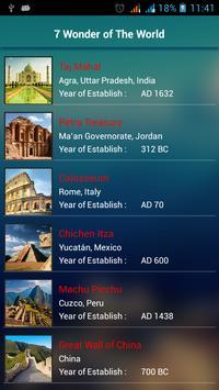 7 Wonders Of The World apk screenshot
