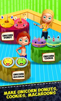 Unicorn Foods Bakery! Macaron Cookies & Donuts apk screenshot