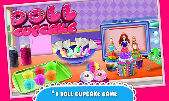 Edible Doll Cupcake Maker! Bake Cupcakes with Chef poster