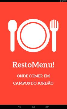 RestoMenu! Campos do Jordão apk screenshot