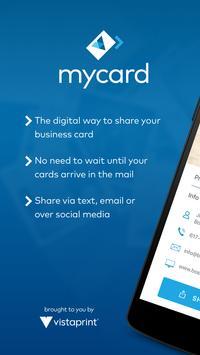 My Vista: Send your Vistaprint business card poster