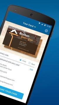 My Vista: Send your Vistaprint business card screenshot 1