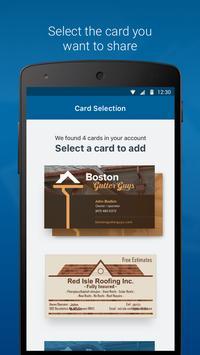 My Vista: Send your Vistaprint business card screenshot 2