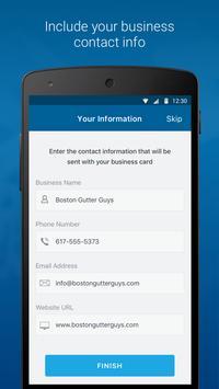My Vista: Send your Vistaprint business card screenshot 3