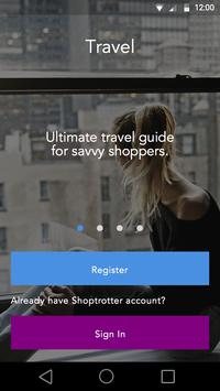 Travel guide for shoppers poster