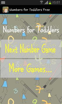 Numbers for Toddlers Free poster