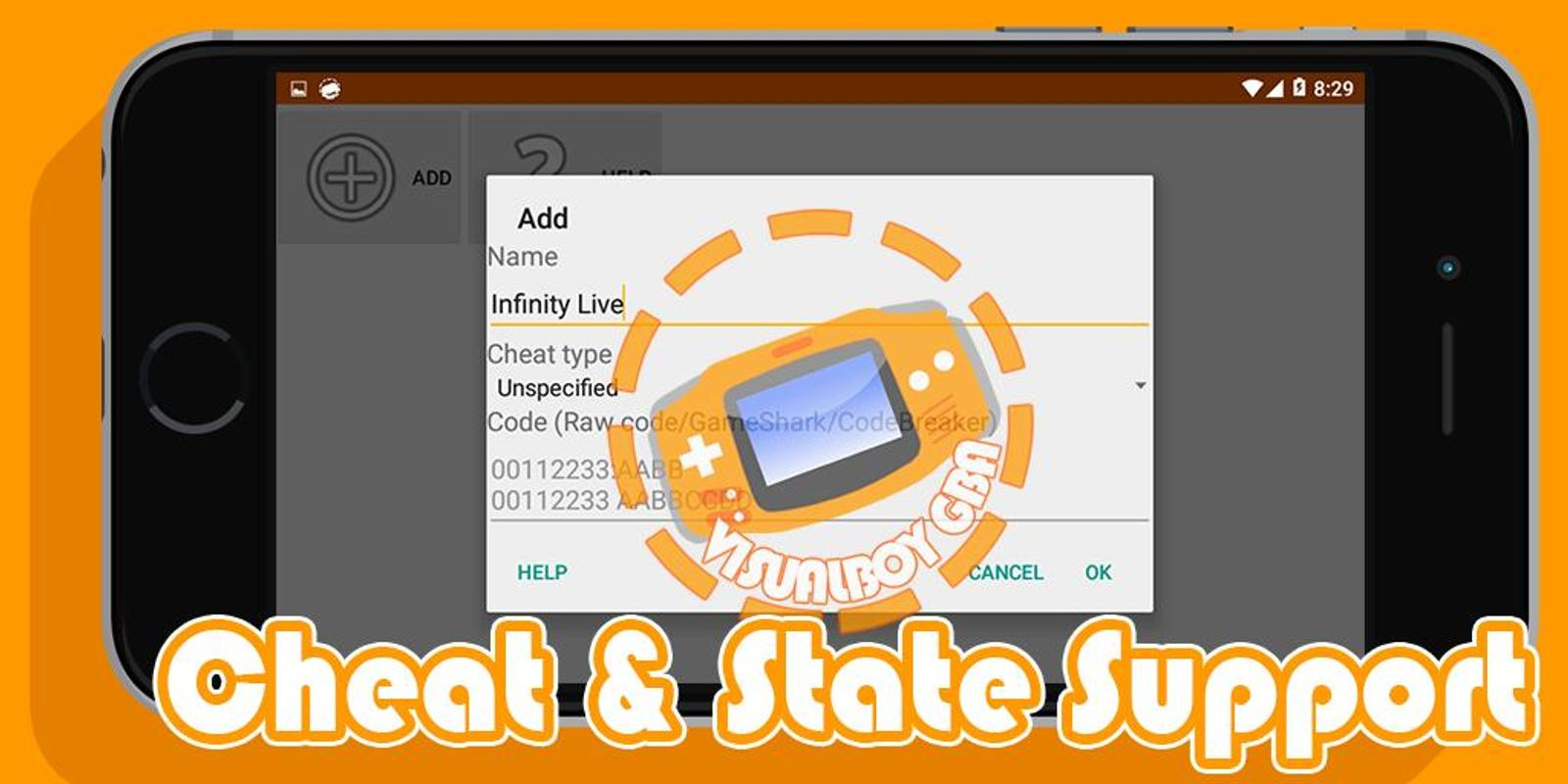 how to use cheat on gba emulator android