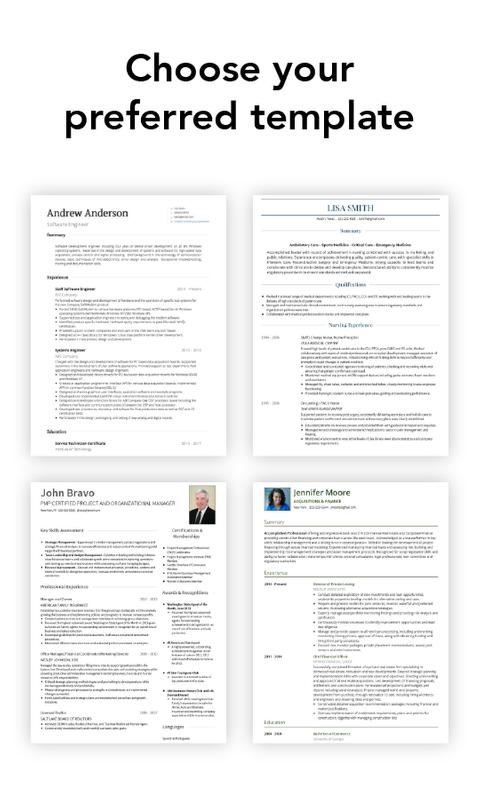 Resume Builder Cv Maker By Visualcv For Android Apk Download