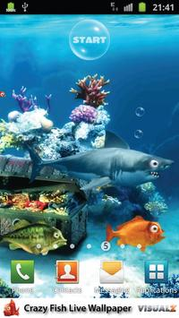 Crazy Fish Live Wallpaper Free poster