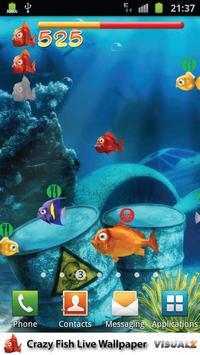 Crazy Fish Live Wallpaper Free apk screenshot
