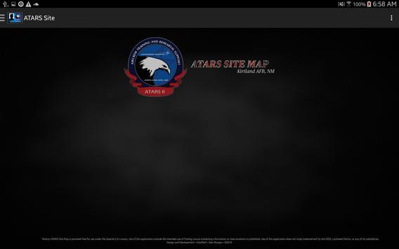 ATARS Site Map screenshot 2